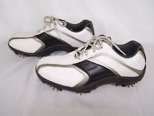 FOOTJOY Junior Golf Shoes Black White Gray Size 4 M