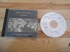 CD Ethno Ralf Jarchow - Federico Garcia Lorca : Canciones (29 Song) RJL RECORDS