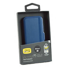 Genuine OTTERBOX Symmetry Flip Folio Case Cover Wallet for Apple iPhone 7/6s Blue