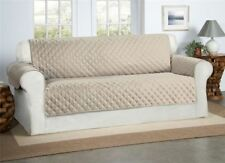 Safari Homeware Beige / Cream 3 Seater Sofa Cover - Settee Couch Quilted Luxury
