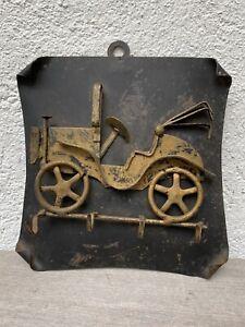 Vintage Antique Car Key Holder SPAIN Wall Hanging Metal Hooks