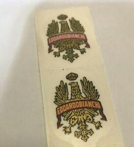 Coppia adesivi stickers stemma bici Bianchi