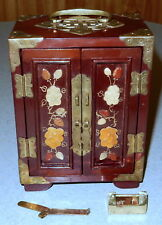 Rare Vintage Beautiful MINIATURE Chinese Jewelry Box * 7 inches Tall