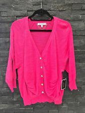 NWT Juicy Couture Dragonfruit Raspberry Color Cotton Cardigan Sz XL $128