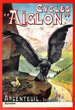 BICICLETTA Bici D'ARTE FRANCESE Aiglon Eagle cicli Deco Poster stampati