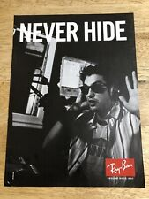 Ray-Ban - NEVER HIDE - Full-Page Magazine Ad / April Scott Pin-Up Clipping