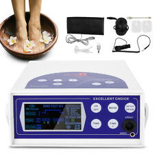 SAFETY DETOX MACHINE CELL ION IONIC FOOT BATH SPA CHI CLEANSE FAR INFRARED BELT