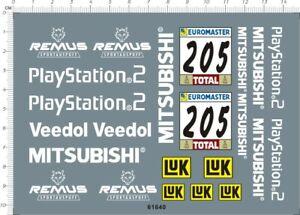 1/18 Scale Paris Dakar Mitsubishi PAJERO EVOLUTION 205# Model Kit Water Decal