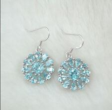 Blue topaz earring 925 sterling silver