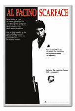 Scarface Poster Silver Framed Ready To Hang Frame Free P&P