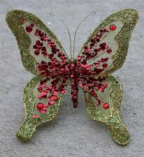 Butterfly Clip Wreath Decoration Craft Wedding Spring Wreath Floral Green Red