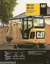 Equipment Brochure - Caterpillar - 301.6C - 301.8C Mini Excavator - 2007 (EB614)