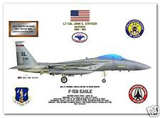 F-15B Eagle, 110th FS, 131st FW, USAF Fighter Print