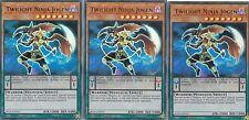 YUGIOH CARD 3 X TWILIGHT NINJA JOGEN -  BLLR-EN016  ULTRA