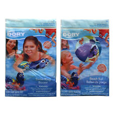 "Disney Finding Dory Nemo Kids Inflatable 20"" Swim Ring Tube + Pool Beach Ball 3+"