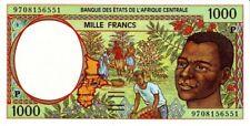 East African States - Tchad 1997 banconota nove di 1000 franchi pick 602d UNC