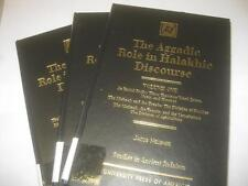 3 VOL SET The Aggadic Role in Halakhic Discourses by Jacob Neusner