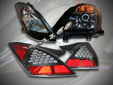 FIT FOR 2003-2006 350Z PROJECTOR HEADLIGHTS JDM BLK FRONT LAMPS