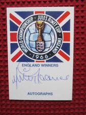 Signed Cards 1960s Soccer Memorabilia