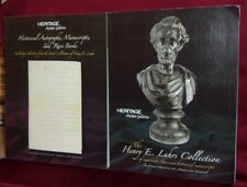 Historical Manuscripts Books & Autographs Two Heritage Auction Catalogs Color