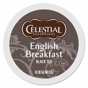 Celestial Seasonings English Breakfast Tea 24 to 144 Keurig K cup Pick Any Size