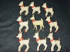 (9) Vintage Bradford Hard Plastic Christmas : 1940's Rudolph & Clarice Reindeer
