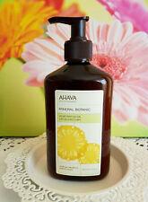AHAVA Mineral Botanic Velvet Body Lotion Tropical Pineapple & White Peach Israel