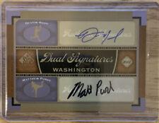 2012 UD SP Signature DESTIN HOOD/MATTHEW PURKE Dual Autographs #WAS12 NATIONALS