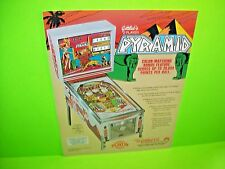 Gottlieb 1977 PYRAMID Original Flipper Game Pinball Machine Promo Sales Flyer