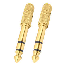 MX 2Pcs 6.35mm P-38 Jack Male To Stereo EP 3.5mm Aux Female Connector -139A