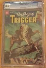 ROY ROGERS' TRIGGER/1952/Dell #7 CGC GRADED 8.0 EDGAR CHURCH / Mile High