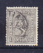 NORWAY 1867 SG22 1sk grey-black - good to fine used. Catalogue £65