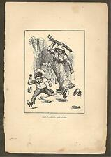 VINTAGE ILLUSTRATION - THE ADVENTURES OF HUCK FINN - THE ROBBERS DISPERSED