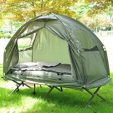Outdoor une personne pliante dôme tente randonnée camping lit bébé avec sac de couchage nouveau