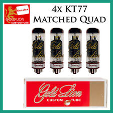 New 4x Genalex Gold Lion KT77 | Matched Quad / Quartet / Four | Free Ship