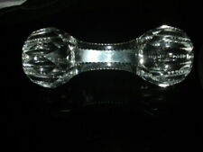 Antique American Brilliant Cut Crystal Glass Large Dumbbell Master Knife Rest