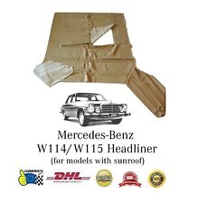 Mercedes-Benz W114 Headliner Ceiling Cover Cream with Sunroof (DHL Express)