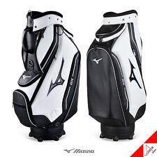 "Mizuno 2019 Gx 002 Men's Golf Caddie Bag 9.5lb 5Way 9.5"" Pu White/Black By Ems"