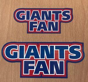 NFL New York Giants Sticker Decal - NFC West Super Bowl Fantasy Football Team