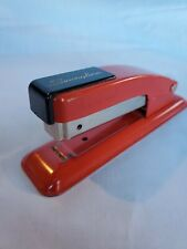 """Vintage Swingline Stapler Two Tone Red and Black 5"""" Standard Staples NY USA"""
