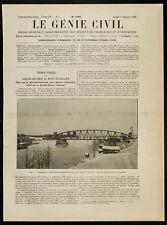 1908, Finlande : Pont sur le Kyrônsalmi-Sund, près de Nyslott