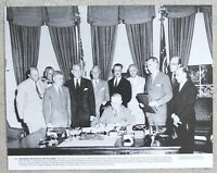 Rare Vintage 11x14 Photograph US President Harry Truman Signing NATO into effect