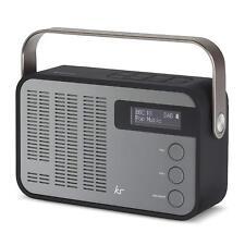 KitSound Classic DAB+/FM Wireless Portable Radio Bluetooth Alarm Black/Grey