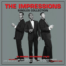 The Impressions SINGLES COLLECTION Best Of 30 Original Recordings NEW 2 CD