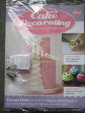 Deagostini Cake Decorating Magazine ISSUE 60 WITH 2 NOZZLES U & MEDIUM ROUND
