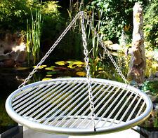 Edelstahl Grillrost 60 cm einzeln entnehmbare Stäbe 8 mm Kettensatz Schwenkgrill