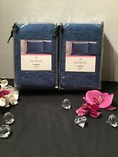 NEW 2 PC Vera Bradley Canterberry Blue Quilted Stitch King sham set