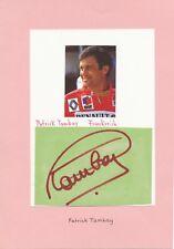 Patrick Tambay  Frankreich Formel 1 Motorsport  15 x 21 cm Karte signiert 403289