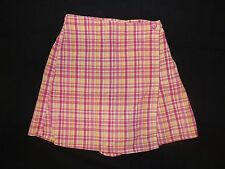 HARTSTRINGS Girls Vintage Pink and Yellow Plaid Skort Size 7