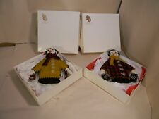 Hand Made Dressed Snowmen Ornaments - Set of 2